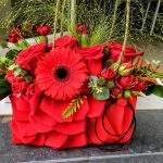 sac floral rouge