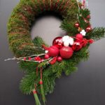 couronne rouge noel